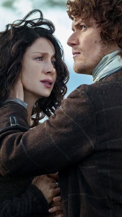Comparing The 'Outlander' Scene Where Jamie Sends Claire Through The Stones — Book Vs. Show