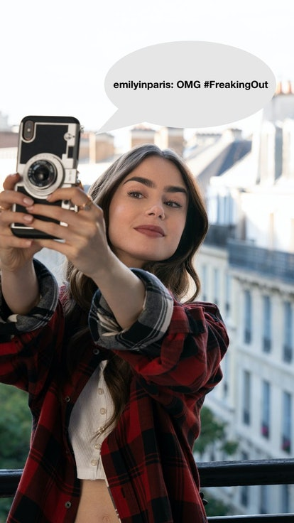 How The 'Emily In Paris' Characters Would Instagram The Golden Globes